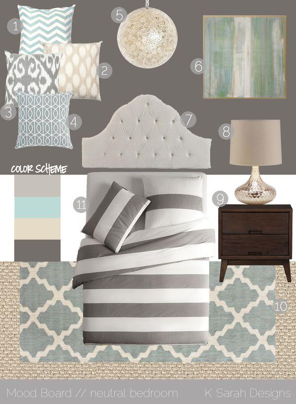 Mood Board A Calming Neutral Bedroom K Sarah Designs