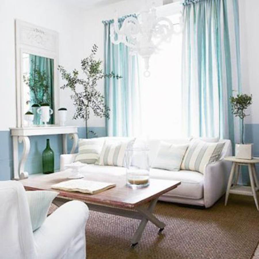 Light and airy room designs home interior design for Tiffany blue living room ideas
