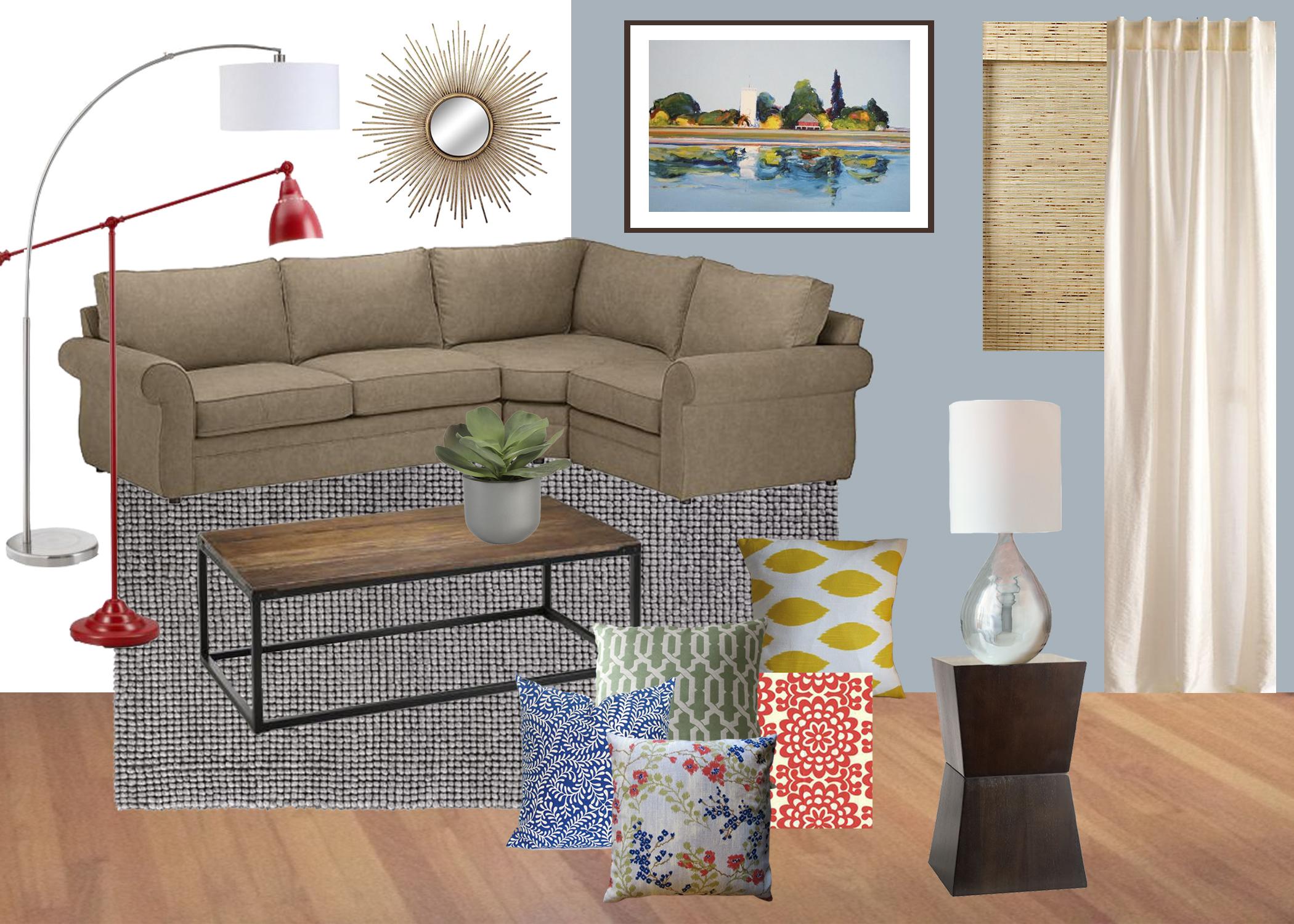 Mood Board // Happy & Colorful Living Room - K Sarah Designs