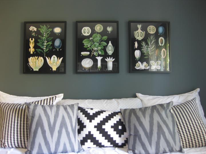 Botanical Wall Art diy // large & inexpensive botanical art - k sarah designs