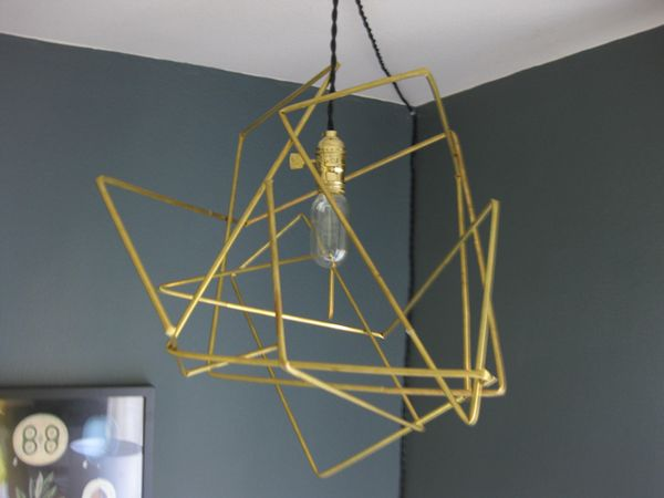 Diy Brass Tubing Geometric Lamp K Sarah Designs