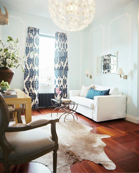 Cowhide Rug Design Ideas: Interiors I Love // Cowhide Rugs