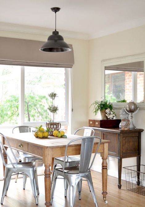 My Favorite Of These Is That First Photo, Where The Chairs Are Paired With  A Rustic Farmhouse Table. That Dining Space, By The Painted Hive, ...