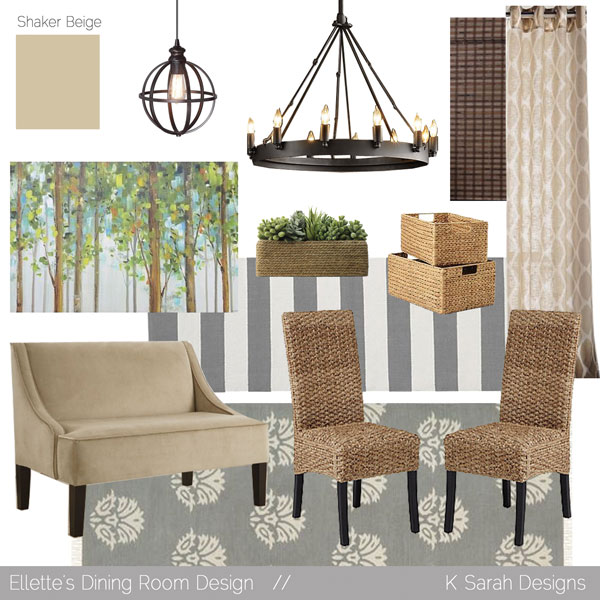 Mood Boards // A Welcoming & Relaxing Living Room, Kitchen, and