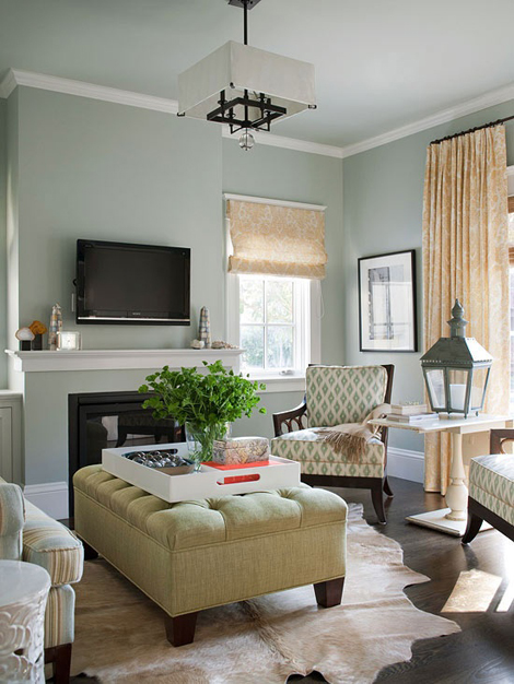 I Also Love The Idea Of Layering Cowhide Rugs Over A Jute Or Other Natural Fiber Rug Like This