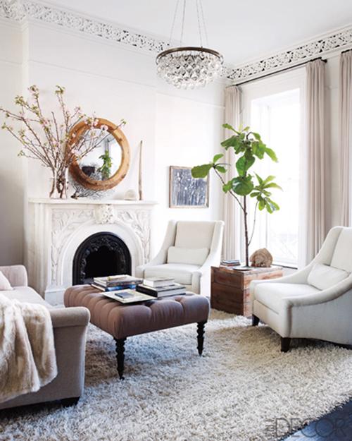 Interiors I Love Round Mirrors Over