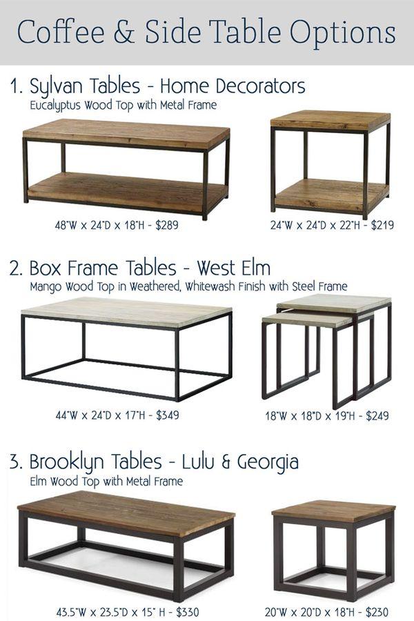 some favorite coffee tables k sarah designs - Metal Frame Coffee Table