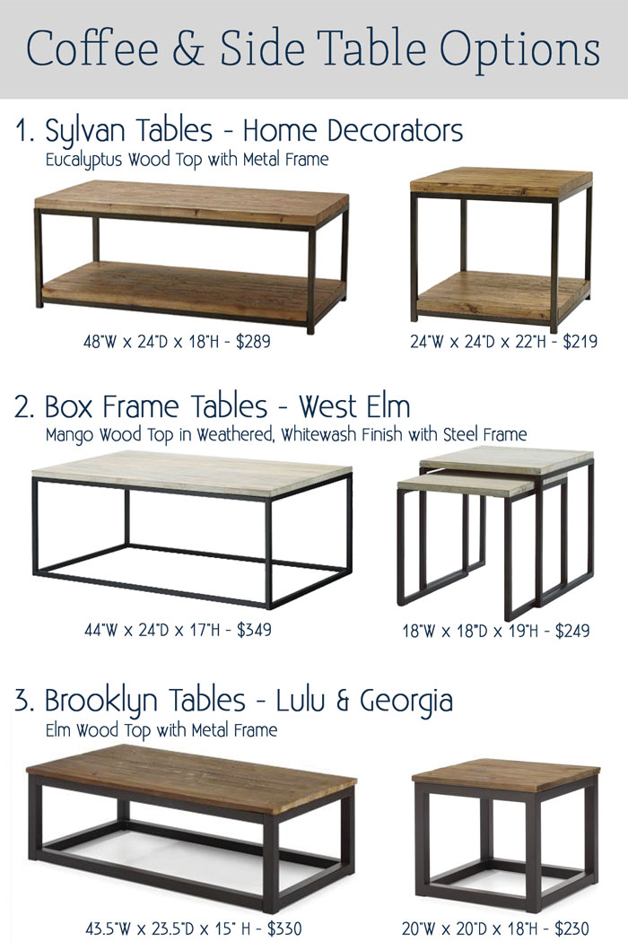 Coffee Table Options