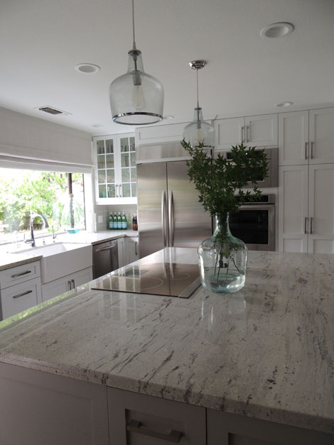 White Kitchen Light Granite mom and dad's kitchen // it's finished! - k sarah designs