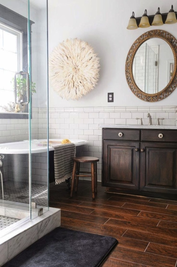 Comwood Tile Bathroom Flooring : As shown above, Im particularly smitten with the white and off-white ...