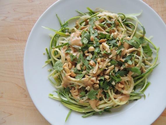 Cucumber & Zhucchini Noodle Peanut Salad4