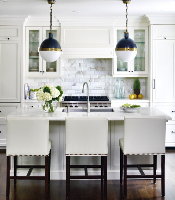 Interiors I Love Mixed Metals In The Kitchen K Sarah Designs - Gold kitchen pendants
