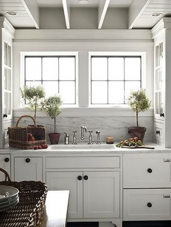 Interiors I Love Mixed Metals In The Kitchen K Sarah Designs - Gray kitchen cabinet hardware