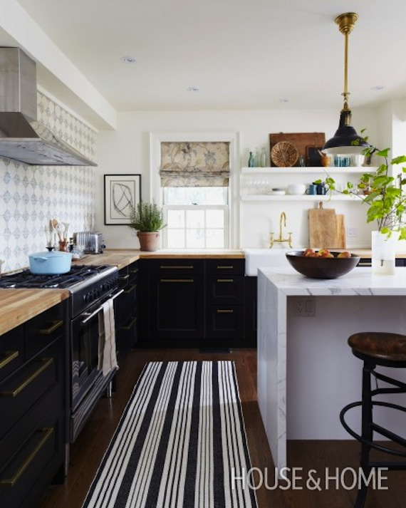 Interiors I Love Mixed Metals In The Kitchen K Sarah Designs - Black kitchen pendants