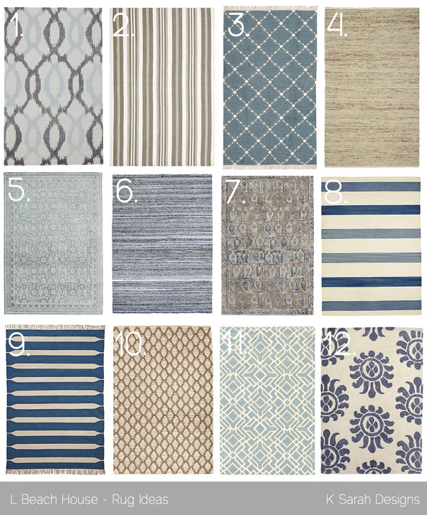 favorite rugs for a beach house k sarah designs