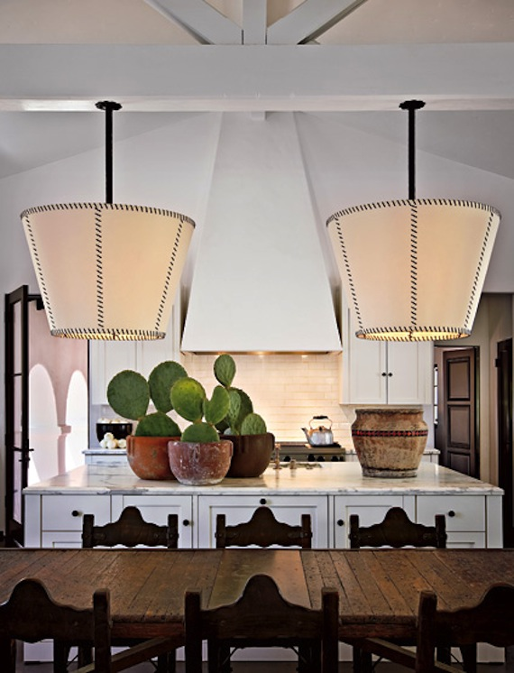 This Cactus Grouping In Diane Keatons Spanish Colonial Revival Kitchen Is SO Cool Love That The Itself Modern Terms Of Finishes And